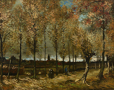 Netherlands Painting - Lane With Poplars New Neunen  by Mountain Dreams