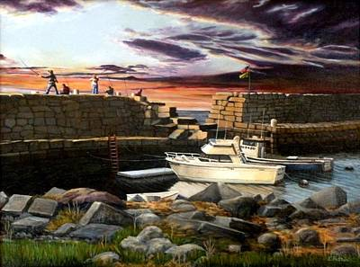 Lanes Cove Gloucester Art Print by Eileen Patten Oliver
