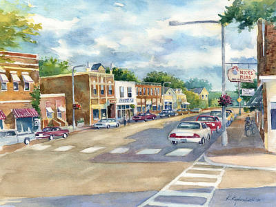 Painting - Lanesboro Revisited by Kerry Kupferschmidt