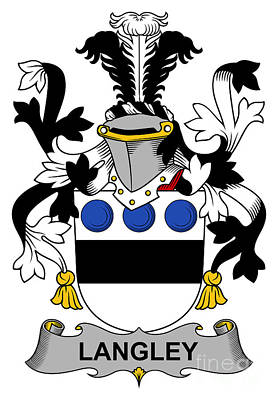 Langley Coat Of Arms Irish Art Print by Heraldry