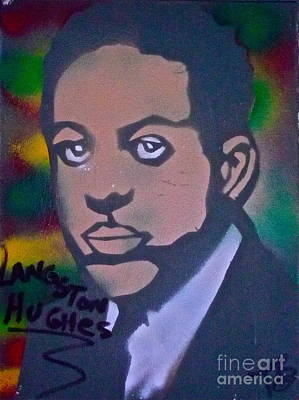 Free Speech Painting - Langston Hughes 2 by Tony B Conscious