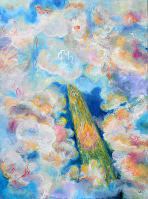 The Universe Painting - Language In The Clouds by Anne Cameron Cutri