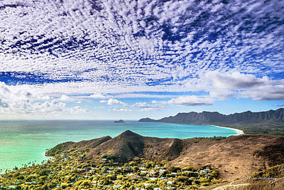 Lanikai Beach Cirrocumulus Clouds Art Print