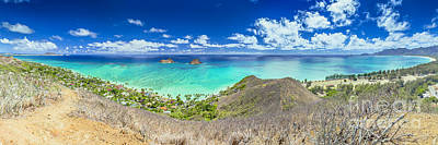 Lanikai Beach Panorama Art Print