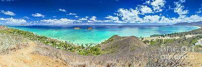 Lanikai Beach Panorama Art Print by Aloha Art