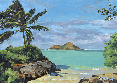 Haiku Wall Art - Painting - Lanikai Beach Path by Stacy Vosberg