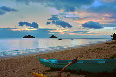 Lanikai Beach Sunrise 6 - Kailua Oahu Hawaii Art Print
