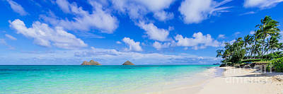 Lanikai Beach Tranquility 3 To 1 Aspect Ratio Art Print