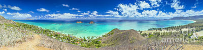 Lanikai Bellows And Waimanalo Beaches Panorama Art Print