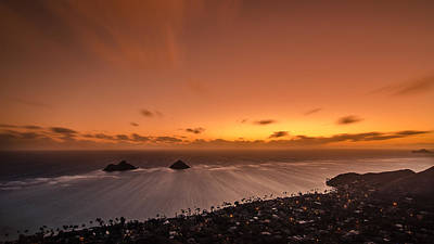 Photograph - Lanikai Sunrise - Oahu by Tin Lung Chao