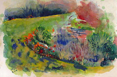 Painting - Lanscape-5 by Vladimir Kezerashvili