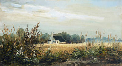 Meadow Painting - Lanscape2 - Weeds Triptych by Irek Szelag
