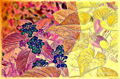 Photograph - Lantana Gold Lining - Digital Effect Iv by Debbie Portwood