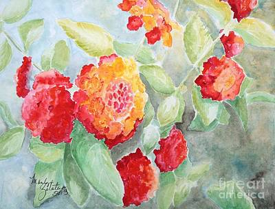 Painting - Lantana II by Marilyn Zalatan