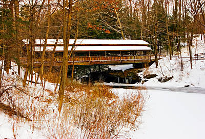 Amish Photograph - Lanterman's  In The Snow by Marcia Colelli