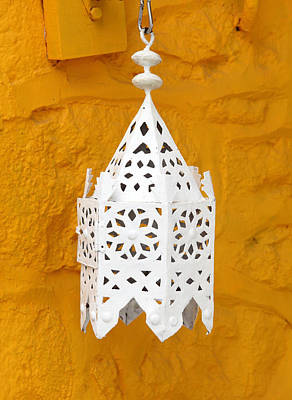 Photograph - Lantern Against Ochre by Paul Cowan