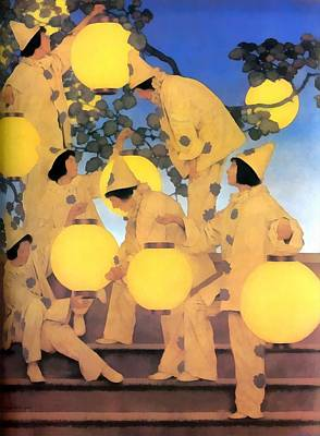 Photograph - Lantern Bearers by Maxfield Parrish