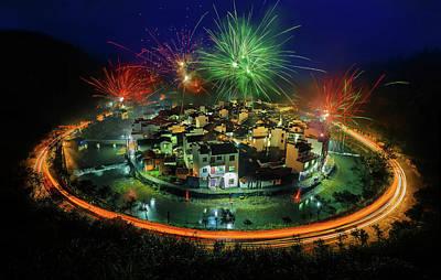 China Town Photograph - Lantern Festival Celebration by Hua Zhu