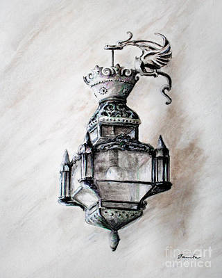 Painting - Lantern In Broad Daylight by Danuta Bennett