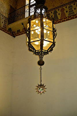 Photograph - Lantern In Santa Barbara Courthouse by Kirsten Giving