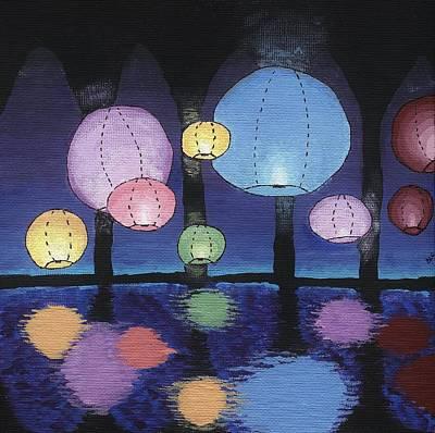 Lantern Party Print by Brandy Combs