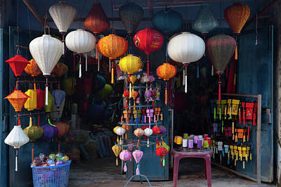 Lantern Shop In Hoi An Ancient Town Art Print by Keren Su