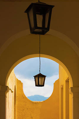 Trinidad House Photograph - Lantern With Arch Gate, Trinidad by Keren Su