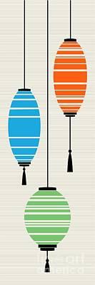 Lantern Digital Art - Lanterns 2 by Donna Mibus