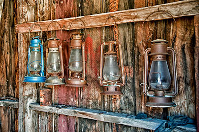 Old West Ghost Towns Photograph - Lanterns by Cat Connor
