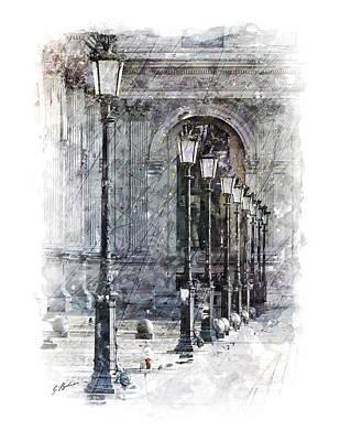 Impressionism Digital Art - Lanterns by Gary Bodnar