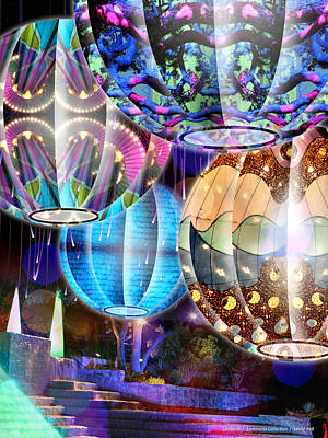 Luminaria Digital Art - Lanterns - Luminaria Collection by Leslie Kell