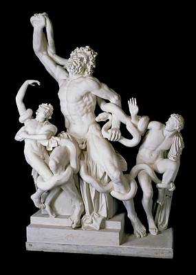 Carrara Marble Wall Art - Photograph - Laocoon Group by Ashmolean Museum/oxford University Images