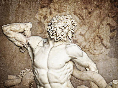 Muscular Digital Art - Laocoon by Joe Winkler