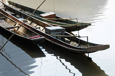 Indian Culture Photograph - Laotian Boats by T-immagini