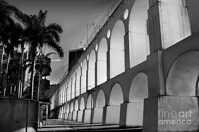 Photograph - Lapa Arches In Black And White - Rio De Janeiro by Carlos Alkmin