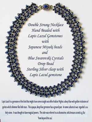 Delica Beads  - Lapis Lazuli Gemstone Necklace by Jennie Breeze