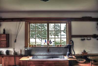 Wyalusing Photograph - Laporte House Kitchen by David Simons