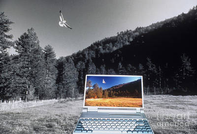 1 Object Photograph - Laptop Outdoors by Novastock