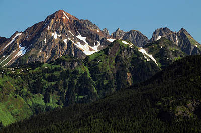Cascade Mountains Snoqualmie National Forest Photograph - Larabee Mountain And Border Peak by Michel Hersen
