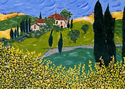Tuscan Hills Painting - L'arazzo by Seonaid  Ross