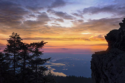 Pacific Northwest Photograph - Larch Mountain Sunset by David Gn