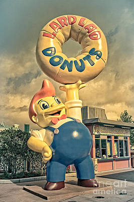 Signage Photograph - Lard Lad Donuts by Edward Fielding
