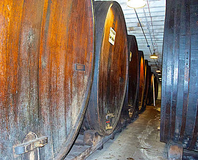 Large Barrels At Korbel Winery In Russian River Valley-ca Art Print