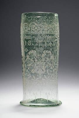 Large Beaker Humpen Unknown Czech Republic Art Print by Litz Collection