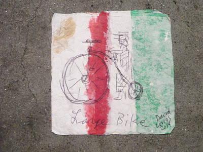 Large Bike - Napkin Art Art Print
