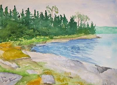 Large Camp On No Name Lake Original by Troy Thomas