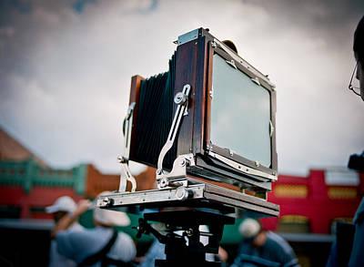 Large Format Digital Art - Large Format Film Camera by Linda Unger