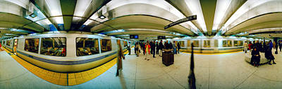 Large Group Of People At A Subway Print by Panoramic Images