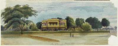Large House And Garden. In Camp Baroda.' Art Print
