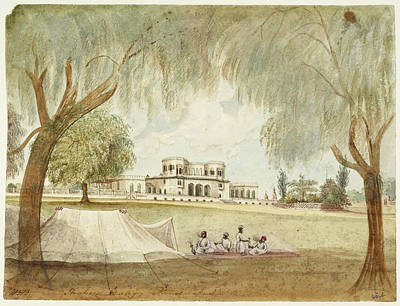 Large House With Tent In Foreground Art Print